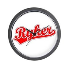 Retro Ryker (Red) Wall Clock