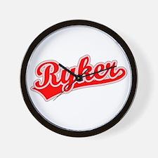 Retro Ryker (Red) Wall Clock