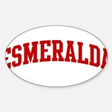 ESMERALDA (red) Oval Decal