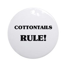 Cottontails Rule Ornament (Round)