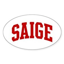 SAIGE (red) Oval Decal