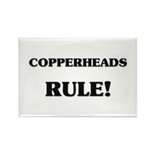 Copperheads Rule Rectangle Magnet