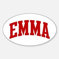 EMMA (red) Oval Decal