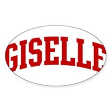 GISELLE (red) Oval Decal