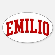 EMILIO (red) Oval Decal