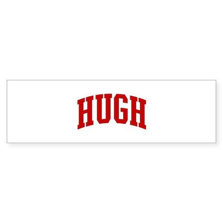 HUGH (red) Bumper Sticker