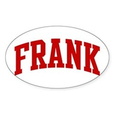 FRANK (red) Oval Bumper Stickers