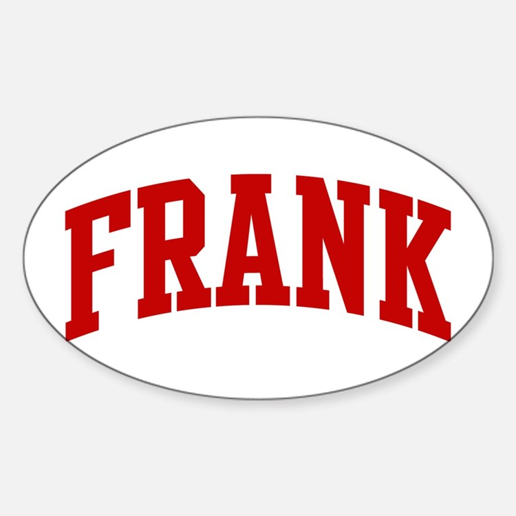 FRANK (red) Oval Decal