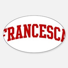 FRANCESCA (red) Oval Decal