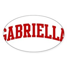 GABRIELLA (red) Oval Decal