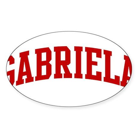 GABRIELA (red) Oval Sticker