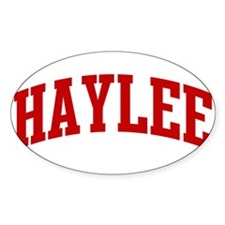 HAYLEE (red) Oval Decal