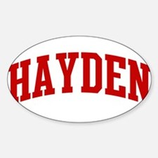 HAYDEN (red) Oval Decal