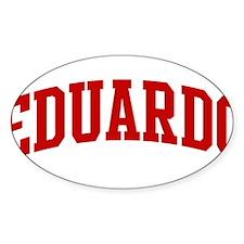 EDUARDO (red) Oval Decal