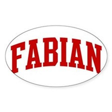FABIAN (red) Oval Decal