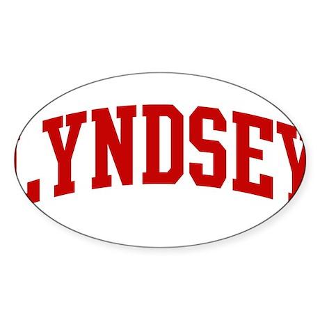 LYNDSEY (red) Oval Sticker