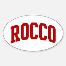 ROCCO (red) Oval Decal