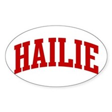 HAILIE (red) Oval Decal