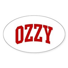 OZZY (red) Oval Decal