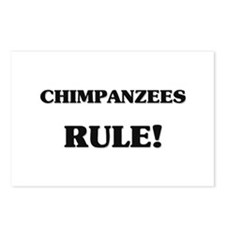 Chimpanzees Rule Postcards (Package of 8)