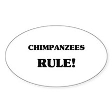 Chimpanzees Rule Oval Decal