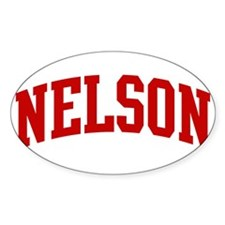 NELSON (red) Oval Decal