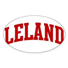 LELAND (red) Oval Decal