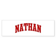 NATHAN (red) Bumper Bumper Sticker