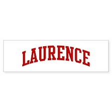 LAURENCE (red) Bumper Bumper Sticker