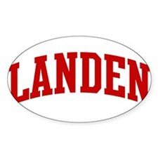 LANDEN (red) Oval Decal
