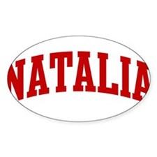 NATALIA (red) Oval Decal