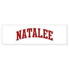 NATALEE (red) Bumper Bumper Sticker