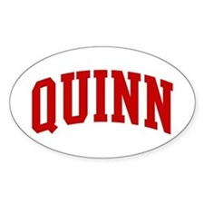 QUINN (red) Oval Decal