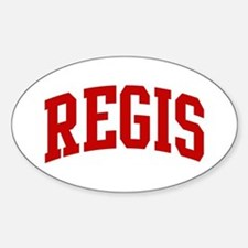 REGIS (red) Oval Decal