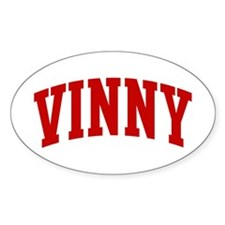 VINNY (red) Oval Decal