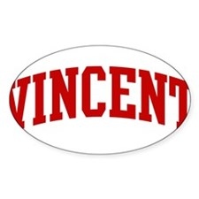 VINCENT (red) Oval Bumper Stickers