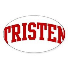 TRISTEN (red) Oval Decal