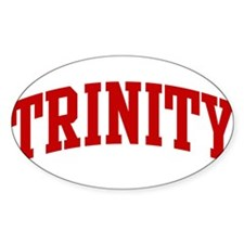 TRINITY (red) Oval Decal
