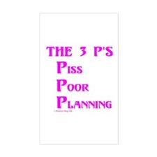 The 3 P's (Three) Rectangle Decal