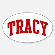 TRACY (red) Oval Decal
