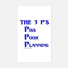 The 3 P's (Four) Rectangle Decal