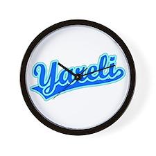 Retro Yareli (Blue) Wall Clock