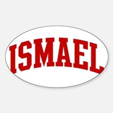 ISMAEL (red) Oval Decal