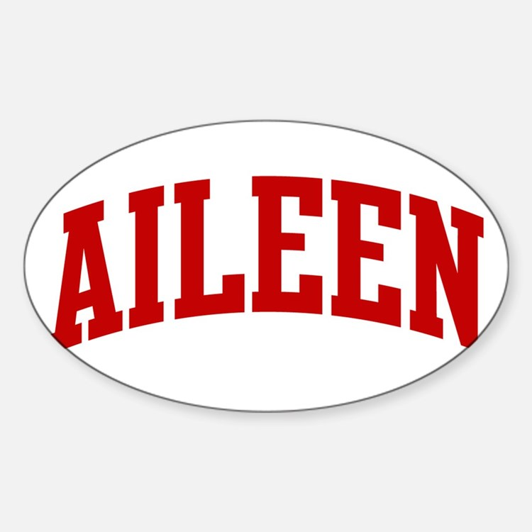AILEEN (red) Oval Decal