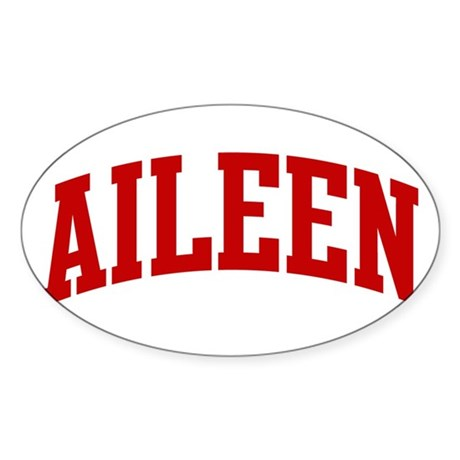 AILEEN (red) Oval Sticker