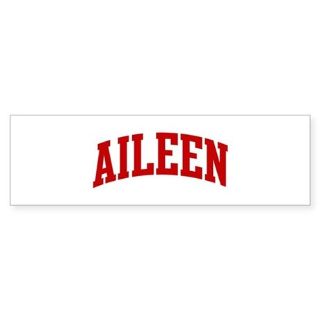 AILEEN (red) Bumper Sticker