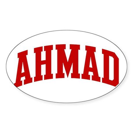 AHMAD (red) Oval Sticker