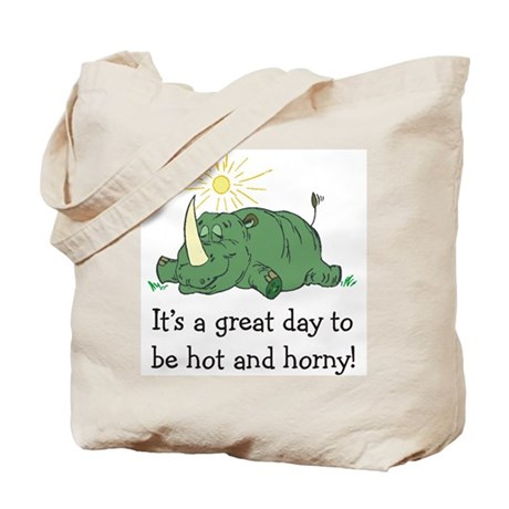 """Hot and Horny"" Tote Bag"