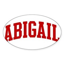 ABIGAIL (red) Oval Decal