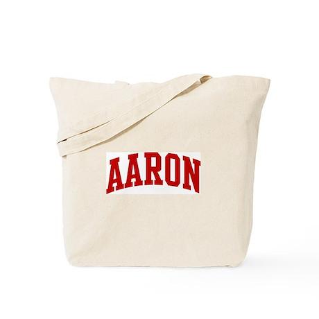 AARON (red) Tote Bag